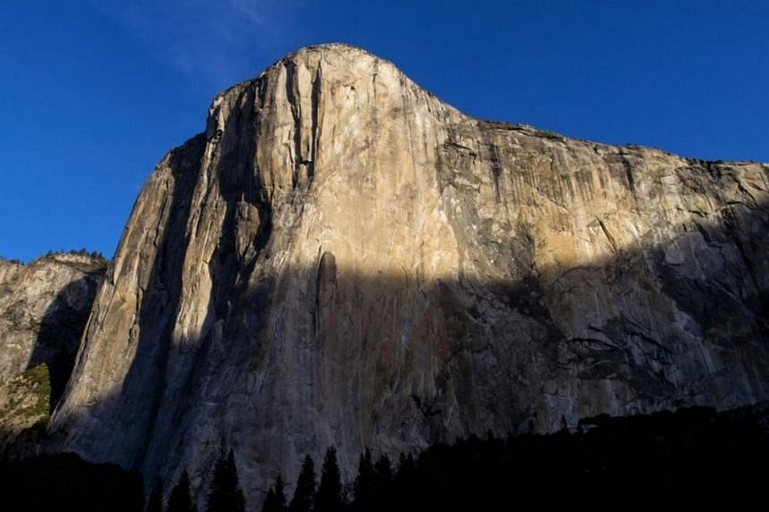 """The rock was released near """"Waterfall Route"""", a popular climbing route on the East Buttress of the 914m-tall El Capitan."""
