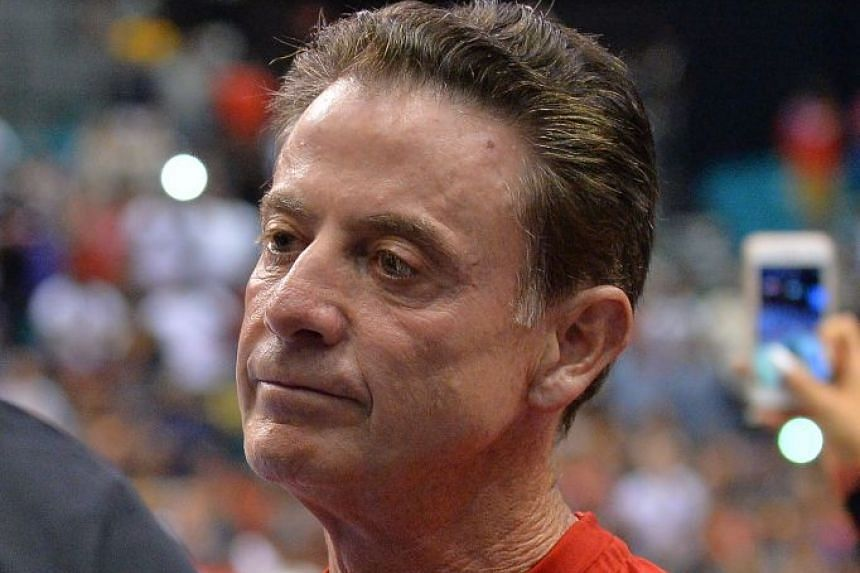 Pitino attends the BIG3 basketball league championship game, Aug 26, 2017, in Las Vegas, Nevada.