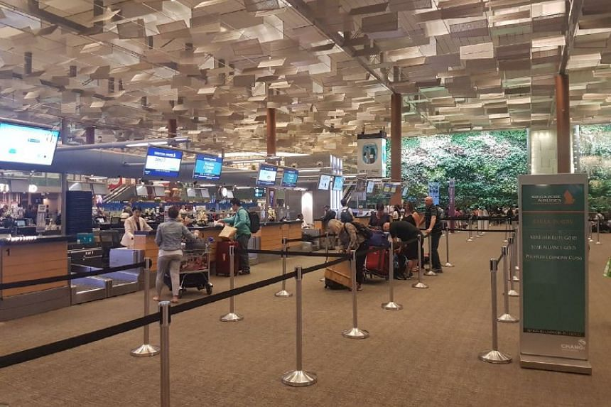 Queues at Singapore Airlines counters were normal when ST visited Terminal 3 around 9pm.