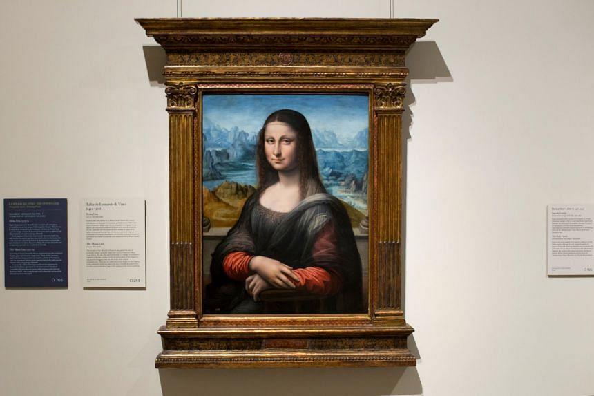 A copy of Leonardo Da Vinci's famous Mona Lisa is seen at Madrid's Prado Museum.