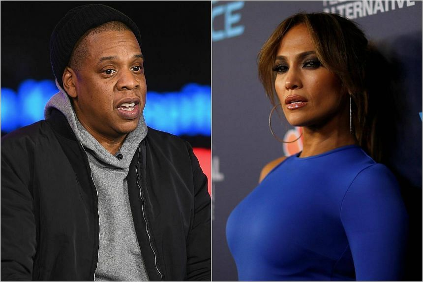 Rap mogul Jay-Z at a Town Hall Discussion at MTV Studios in New York City on March 7, 2017 and Jennifer Lopez at an event for the television series World of Dance in West Hollywood, California, on Sept 19, 2017.