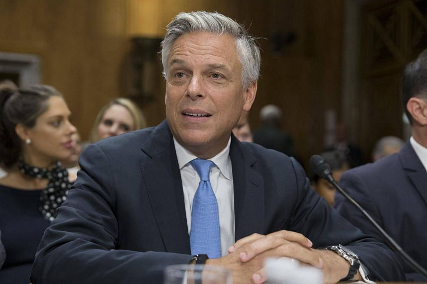Former Republican Governor of Utah Jon Huntsman appears before the Senate Foreign Relations Committee hearing on his nomination to be ambassador to Russia, on Capitol Hill in Washington, on Sept 19, 2017.