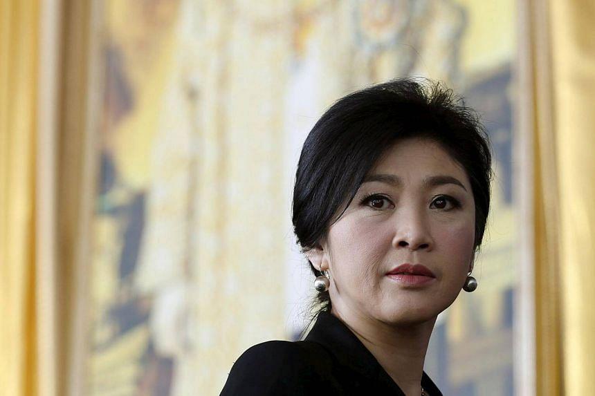 Ousted former Thai Prime Minister Yingluck Shinawatra arrives at the criminal court in Bangkok, on Sept 29, 2015.