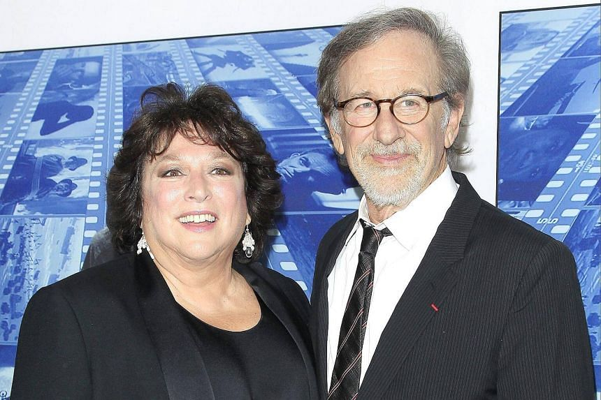 Directors Susan Lacy and Steven Spielberg arrive for HBO's Spielberg documentary premiere at Paramount Studios in Hollywood, on Sept 26, 2017.