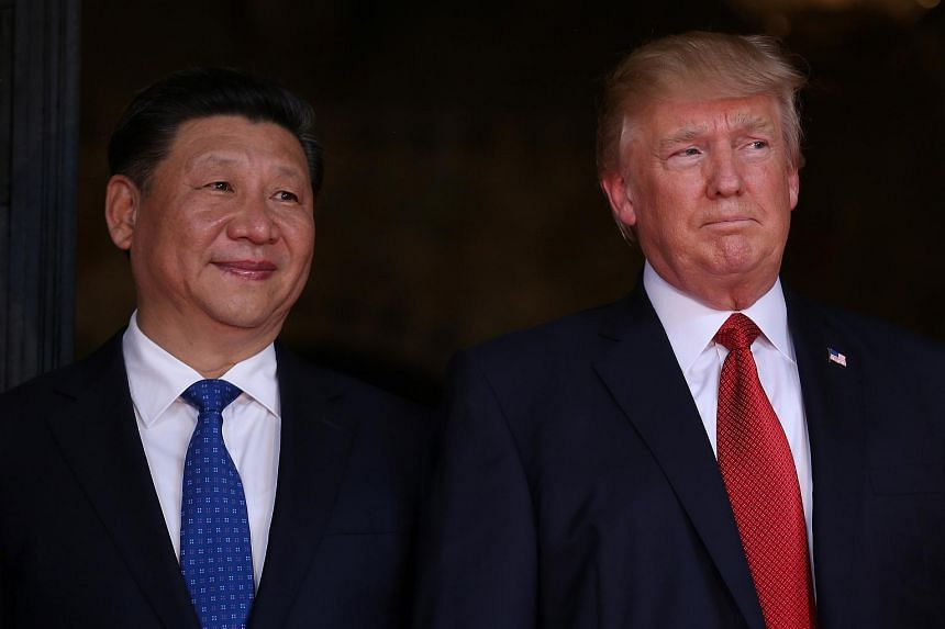 US President Donald Trump and Chinese President Xi Jinping at Mar-a-Lago state in Palm Beach, Florida, US on April 6, 2017.