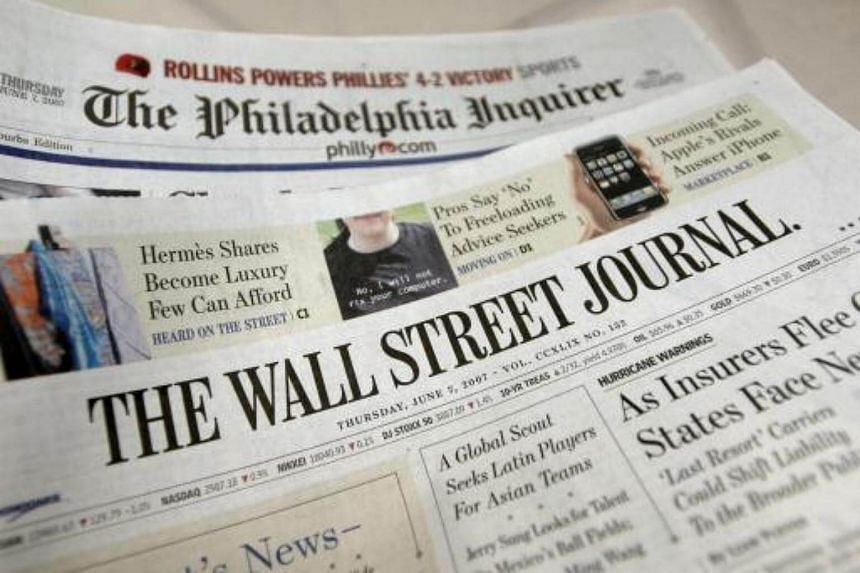 The Wall Street Journal is closing down print editions in Europe and Asia as a result of shrinking advertising.