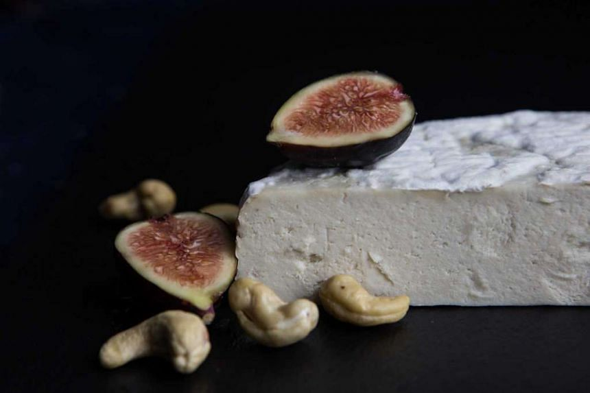 Looks like dairy and tastes pretty close to it too: Vegan Aged Camembert, one of a new wave of alternative cheeses that are made with fermentation.
