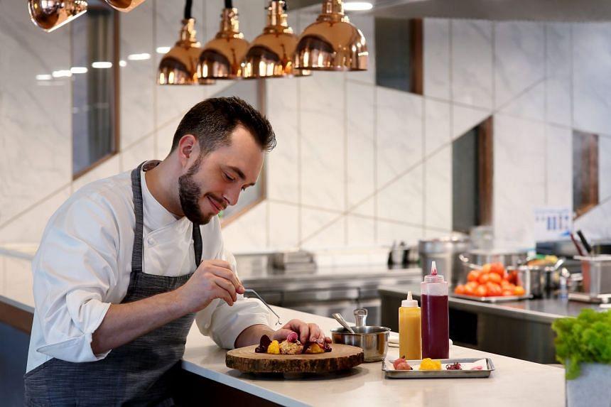 CURATE's chef de cuisine Benjamin Halat.