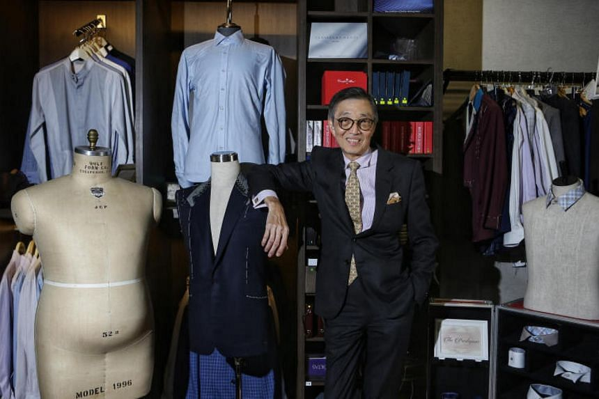 Thomas Wong opened his shop at Boat Quay last year so he could impart his decades of experience as a tailor to young apprentices.
