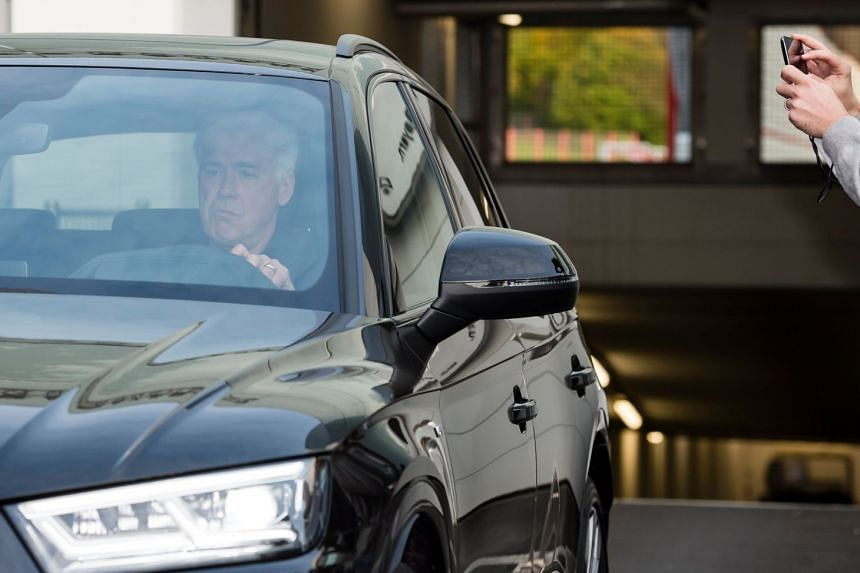 Former Bayern Munich's Italian headcoach Carlo Ancelot leaves the training ground in Munich, southern Germany on Sept 28, 2017.