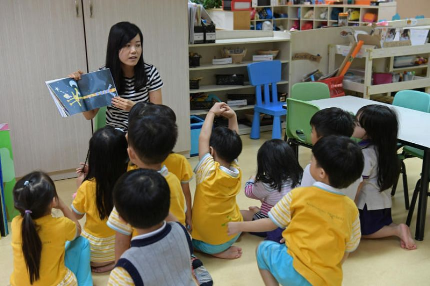 A childcare centre in the OCBC building. OCBC was the first bank that offered in-house childcare facilities for its staff in 2007.