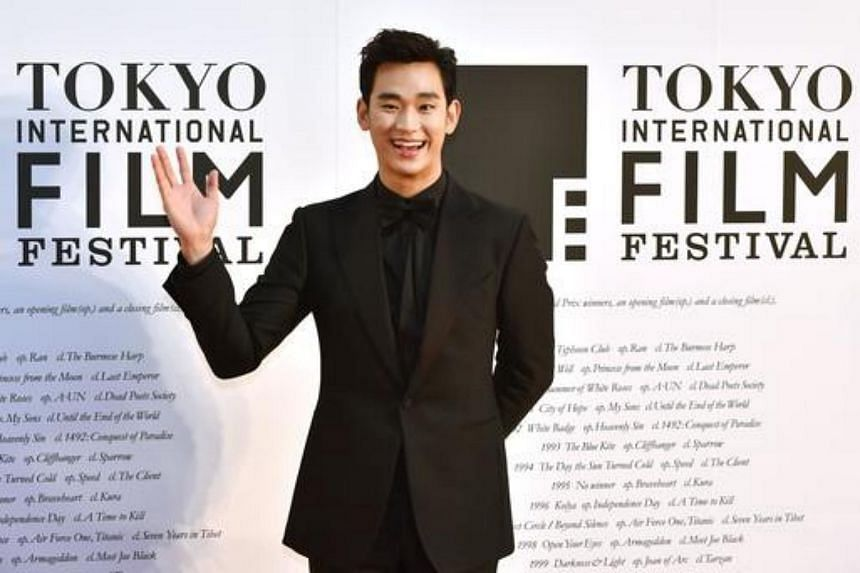 Actor Kim Soo Hyun on the red carpet for the 27th Tokyo International Film Festival opening ceremony in Tokyo on Oct 23, 2014.