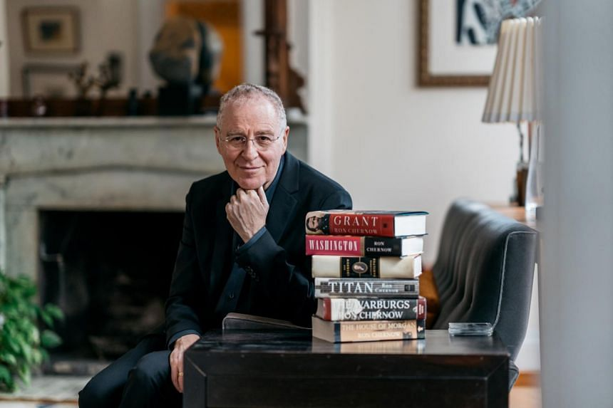 Ron Chernow in his Brooklyn Heights home. The author of numerous lengthy biographies, most notably Hamilton, has written a 1,074-page book on Ulysses S. Grant.
