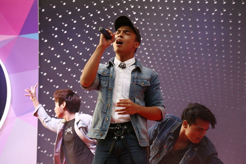 Social media users were impressed by Akif's soulful rendition of Eyes, Nose, Lips, a ballad originally performed by BigBang member Taeyang. PHOTO: JEREMY LI