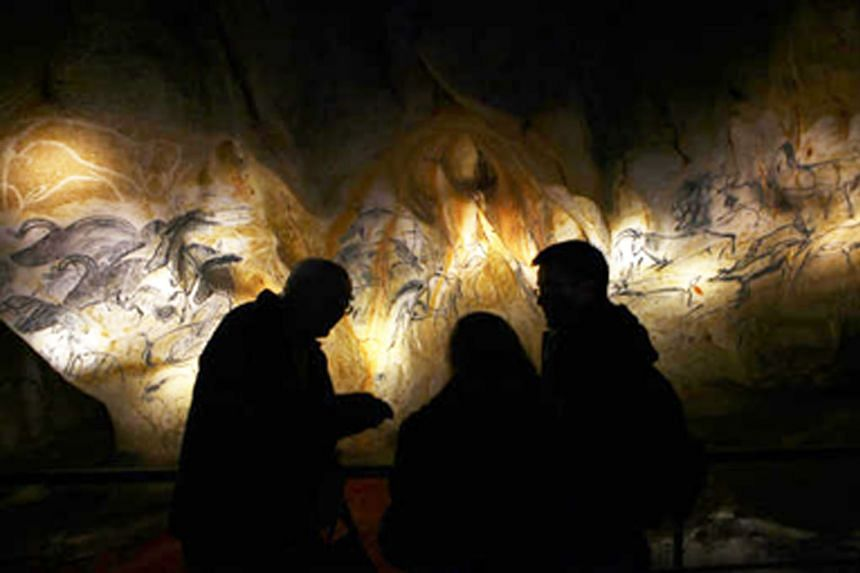 A replica of the Chauvet cave, renowned for its prehistoric paintings of animals, in Ardeche, France.
