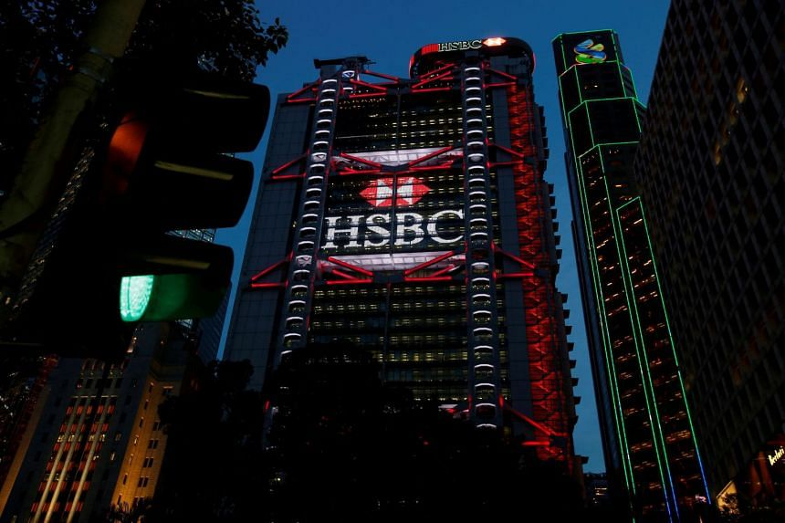 HSBC headquarters in the financial district of Hong Kong, Sept 6, 2017.