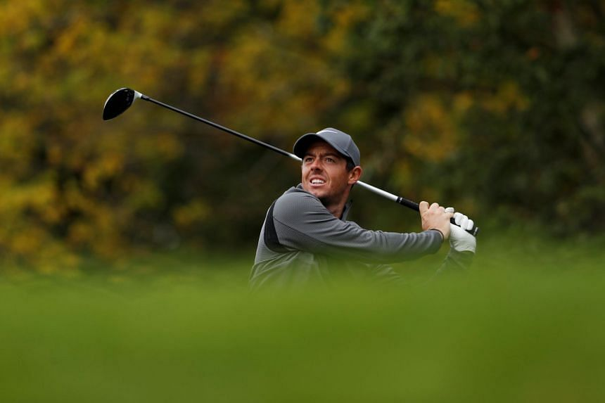 Rory McIlroy in action during the third round.