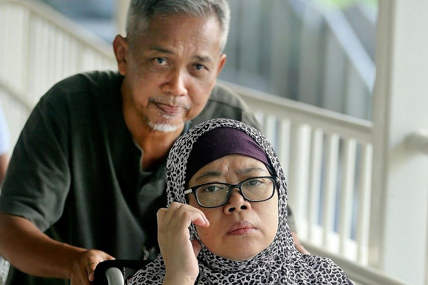 Zariah Mohd Ali and her husband Mohamad Dahlan were convicted yesterday. Zariah had used an array of items, such as a hammer, chopper, bamboo pole and stone pestle, to hit her Indonesian maid, causing permanent disfiguration.