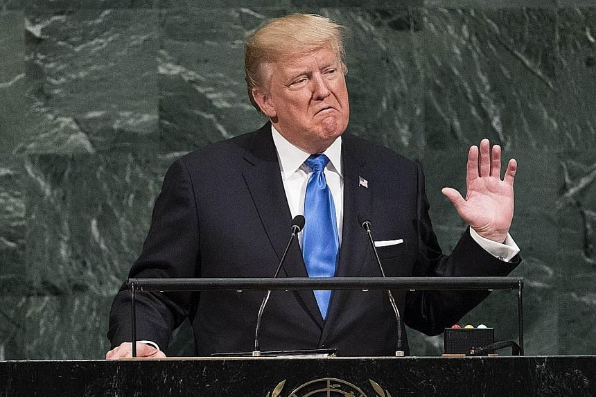 US President Donald Trump's highly anticipated UN General Assembly speech contained strong words for North Korea. Ms Aung San Suu Kyi broke her long silence on the Rohingya crisis, but refused to blame any group for the violence in Rakhine.