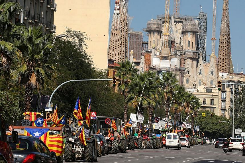 Catalonians making a forceful pitch yesterday in favour of tomorrow's banned referendum on independence from Spain.
