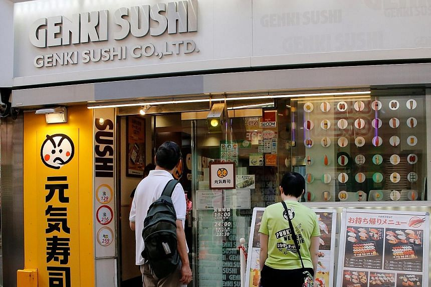 There is little operational overlap for Genki Sushi (above), which is strong in eastern and northern Japan, and Sushiro, which is centred in western Japan.
