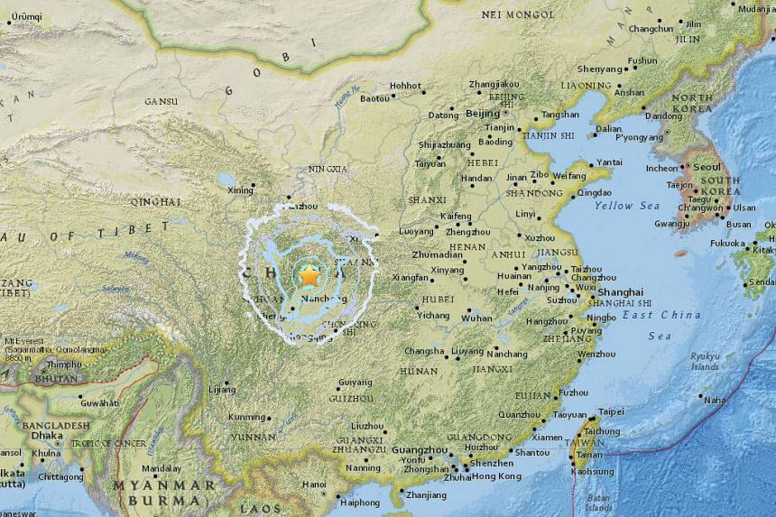 The 5.5 magnitude quake struck Qingchuan county in Guangyuan city.