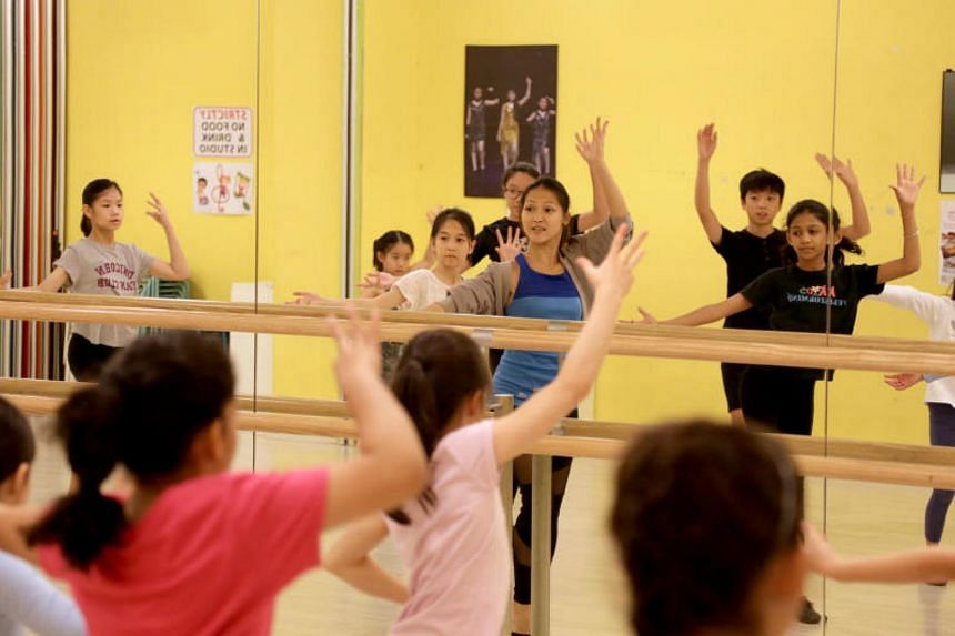 Led by trainer Samantha Kan (centre), 16 dancers will perform for ChildAid 2017 at the Kids Performing Academy for the Arts.