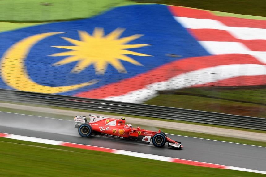 Kimi Raikkonen, who was behind Sebastian Vettel in a Ferrari one-two during Friday practice, reversed the finishing positions when he clocked 1min 31.880sec around the Sepang Circuit.