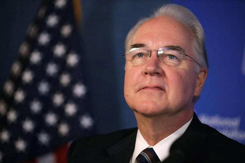 US Heath and Human Services Secretary Tom Price participates in an event to promote the flu vaccine at the National Press Club in Washington, DC, on Sept 28, 2017.