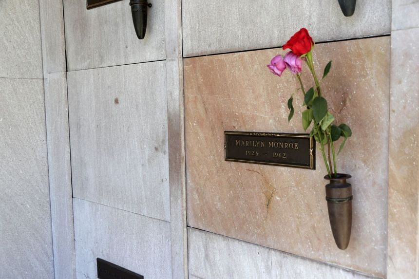 The crypt next to US actress Marilyn Monroe's grave where the late Playboy magazine founder Hugh Hefner will be buried at the Pierce Brothers Westwood Village Memorial Park and Mortuary in Los Angeles.