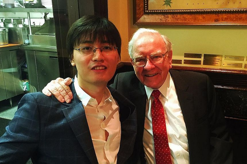 Mr Shi met legendary investor Warren Buffett two years ago when Zeus Entertainment chairman Zhu Ye successfully bid US$2.3 million for lunch with him. Mr Shi was invited to the event.