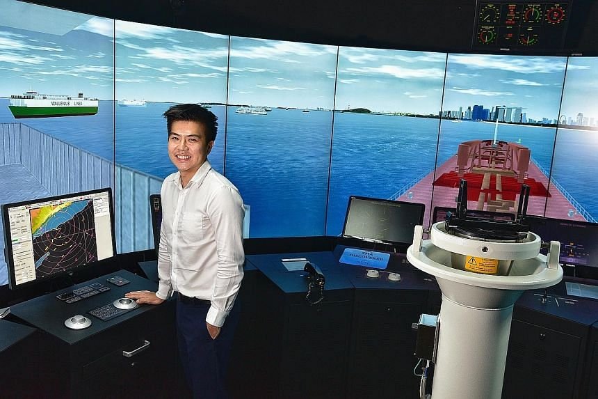 A JC student who later transferred to Singapore Polytechnic, where his father went, Mr Goh Wei Xiang took up nautical studies, like his father, and spent a year working aboard two Greek-owned cargo ships as part of his course requirements. He is now