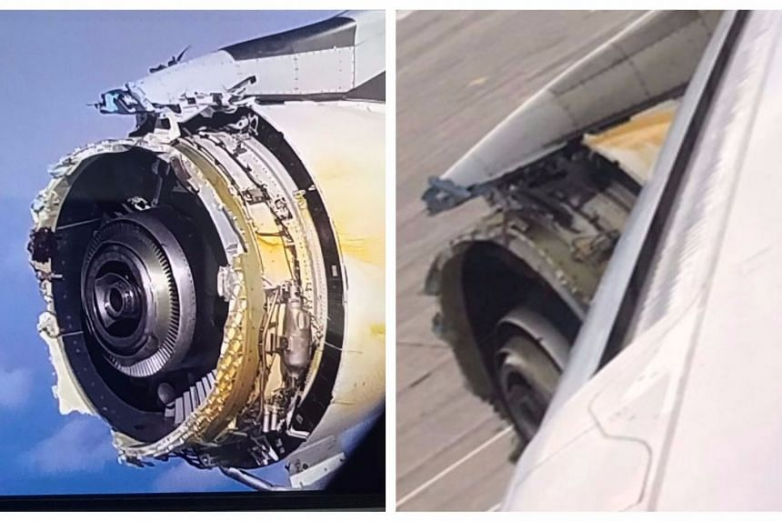 Photos of the damaged plane uploaded to social media.