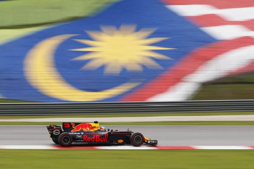 Redbull's Daniel Ricciardo in action during the race. Malaysia's Prime Minister Datuk Seri Najib Tun Razak said hosting the race had been a case of diminishing returns for the country in recent years.
