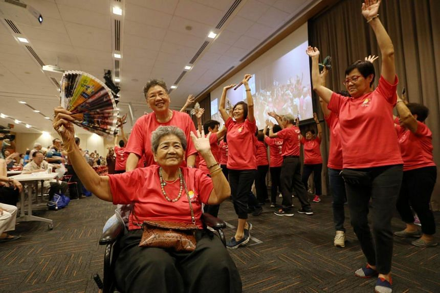 Sunday's celebration organised by RSVP Singapore saw an attendance of more than 200 senior citizens from various senior activity centres as well as senior volunteers.