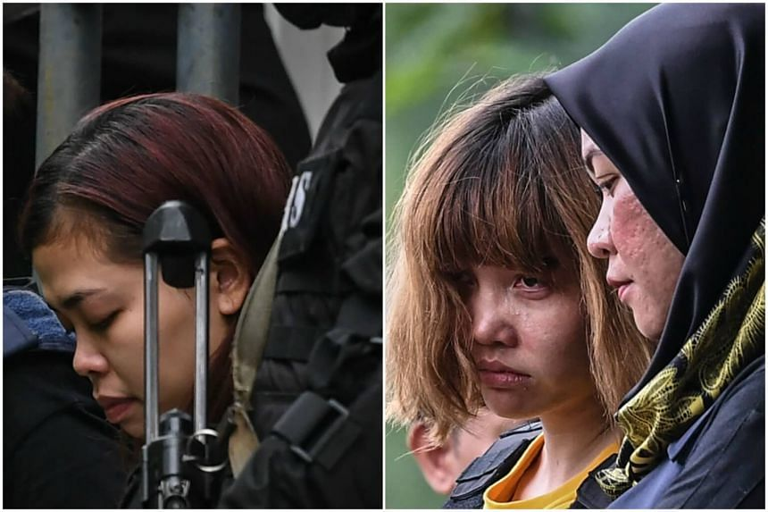 Indonesian Siti Aisyah (left), 25, and Doan Thi Huong (right), 28, from Vietnam were charged under Section 302 of the Penal Code, which provides for the mandatory death sentence upon conviction.