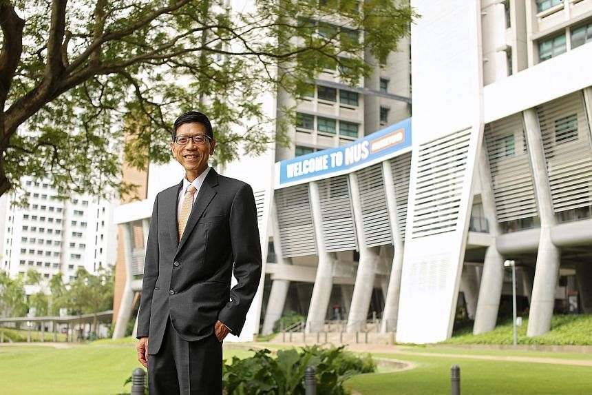 """NUS president Tan Chorh Chuan, who will step down on Jan 1 next year, said he will miss interacting with students and staff, and being """"immersed in the full breadth of what's happening in the university""""."""