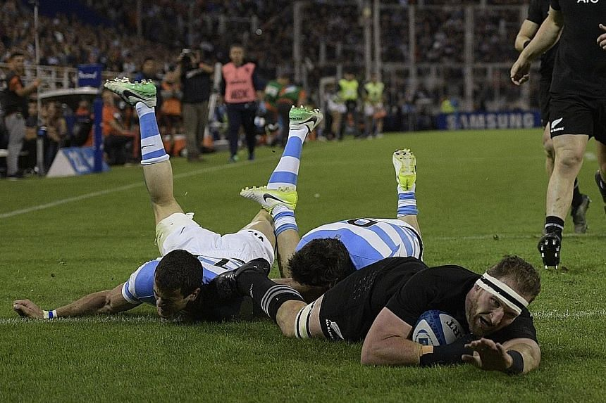 All Blacks skipper Kieran Read scoring a try in the 36-10 win against Argentina in their Rugby Championship match in Buenos Aires on Saturday. Since the renamed competition was introduced in 2012, New Zealand have failed to win the title just once, i