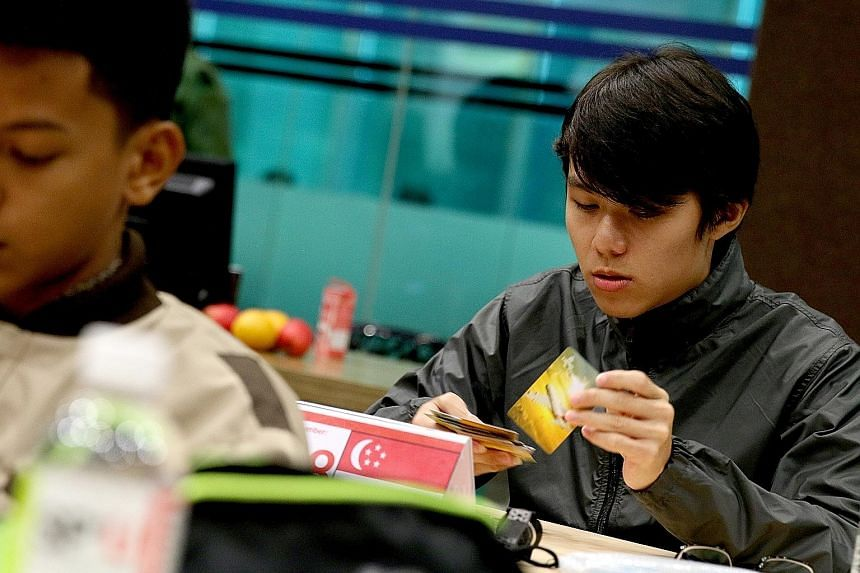 Student Ng Cheng Yu at the Singapore Open Memory Championships over the weekend. Team Singapore fielded 14 contestants at the event, which drew a total of 82 participants from around the world.