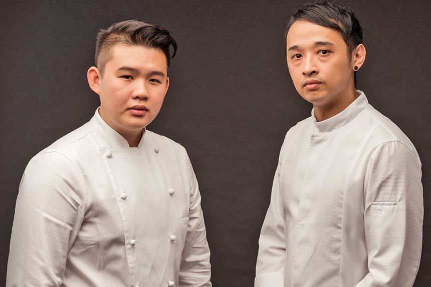Chefs David Lee (left) and Ace Tan.