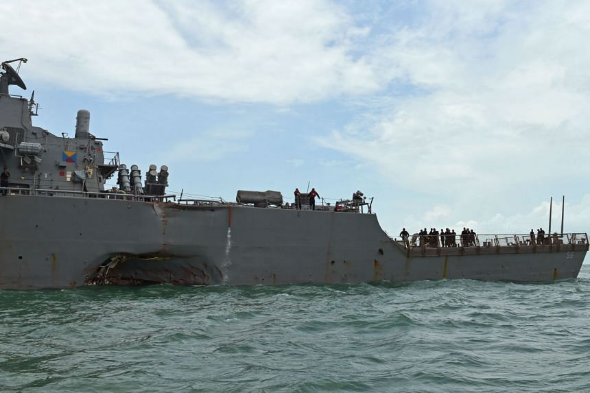 In the collision between United States warship USS John S. McCain and Liberian-registered oil tanker Alnic MC, which occurred on Aug 21, both vessels were detected in Singapore waters off Pedra Branca, noted Defence Minister Ng Eng Hen.