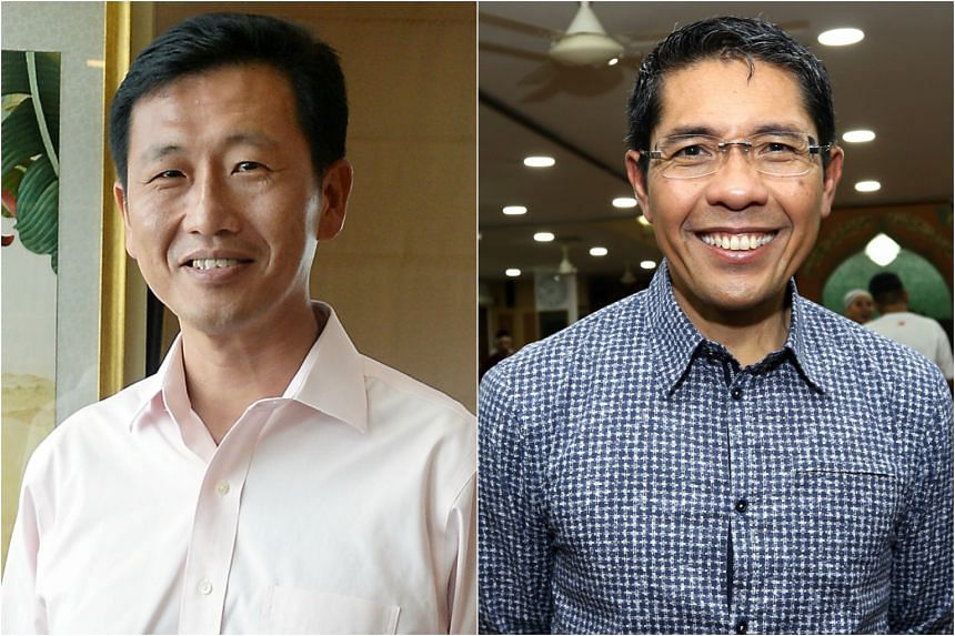 Second Minister for Defence Ong Ye Kung (left) and Senior Minister of State for Defence Maliki Osman.