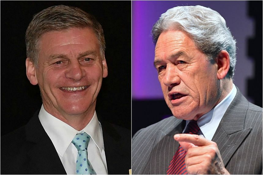 PM Bill English (left) and New Zealand First leader Winston Peters had spoken by telephone. The New Zealand First Party will begin preliminary talks with both the ruling National Party and separately with the Labour Party this week.
