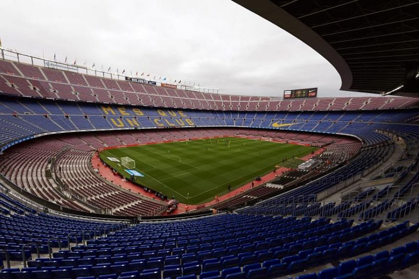 Barcelona play Las Palmas without cheers or fans at Camp Nou Stadium.