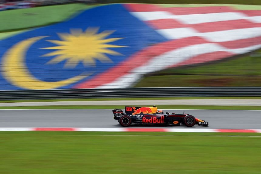 Red Bull's Dutch driver Max Verstappen at the Formula One Malaysia Grand Prix in Sepang on Oct 1, 2017.