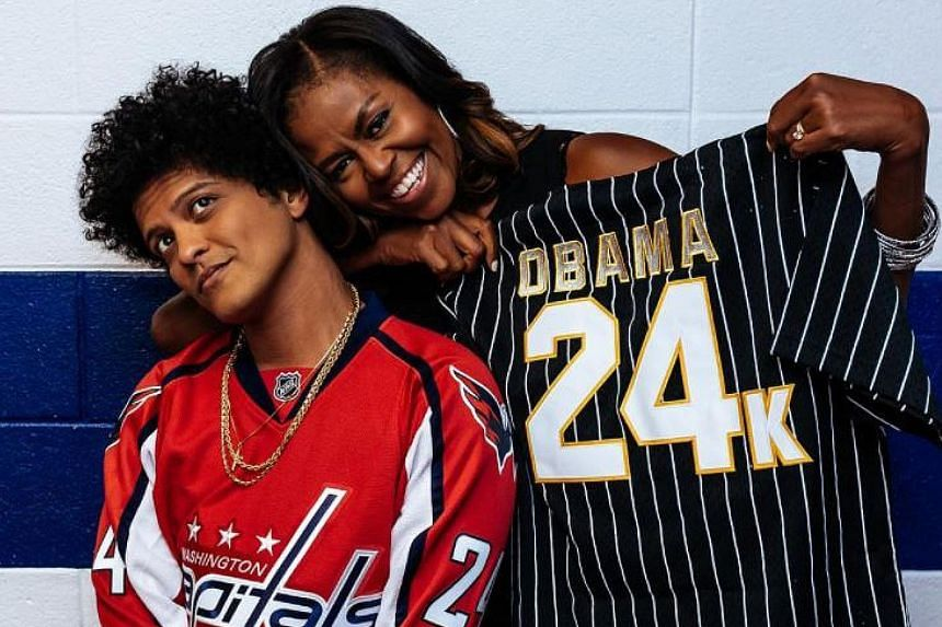 Singer Bruno Mars and former US First Lady Michelle Obama have been fans of each other for a long time.