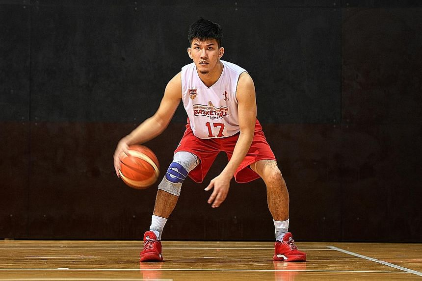 Basketballer Ng Han Bin wants to teach younger players proper techniques so that they can avoid injuries.