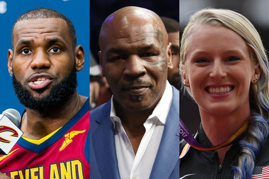US sports stars took to social media to voice their support for victims of the Las Vegas mass shooting.