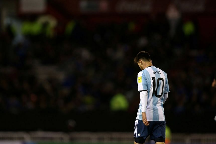 Lionel Messi and Argentina sit in fifth place among South American countries, leaving them just outside those who gain automatic qualification for Russia 2018.