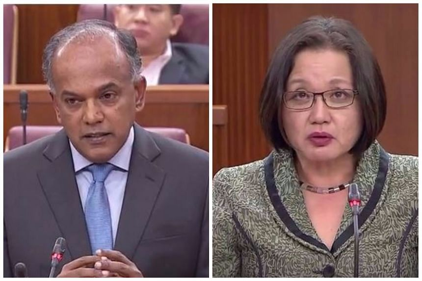 MP Sylvia Lim said that the Government misled people about its reasons for counting the presidential terms needed for a reserved election, while Minister K. Shanmugam said it has always been clear that Parliament decides how to count those terms.
